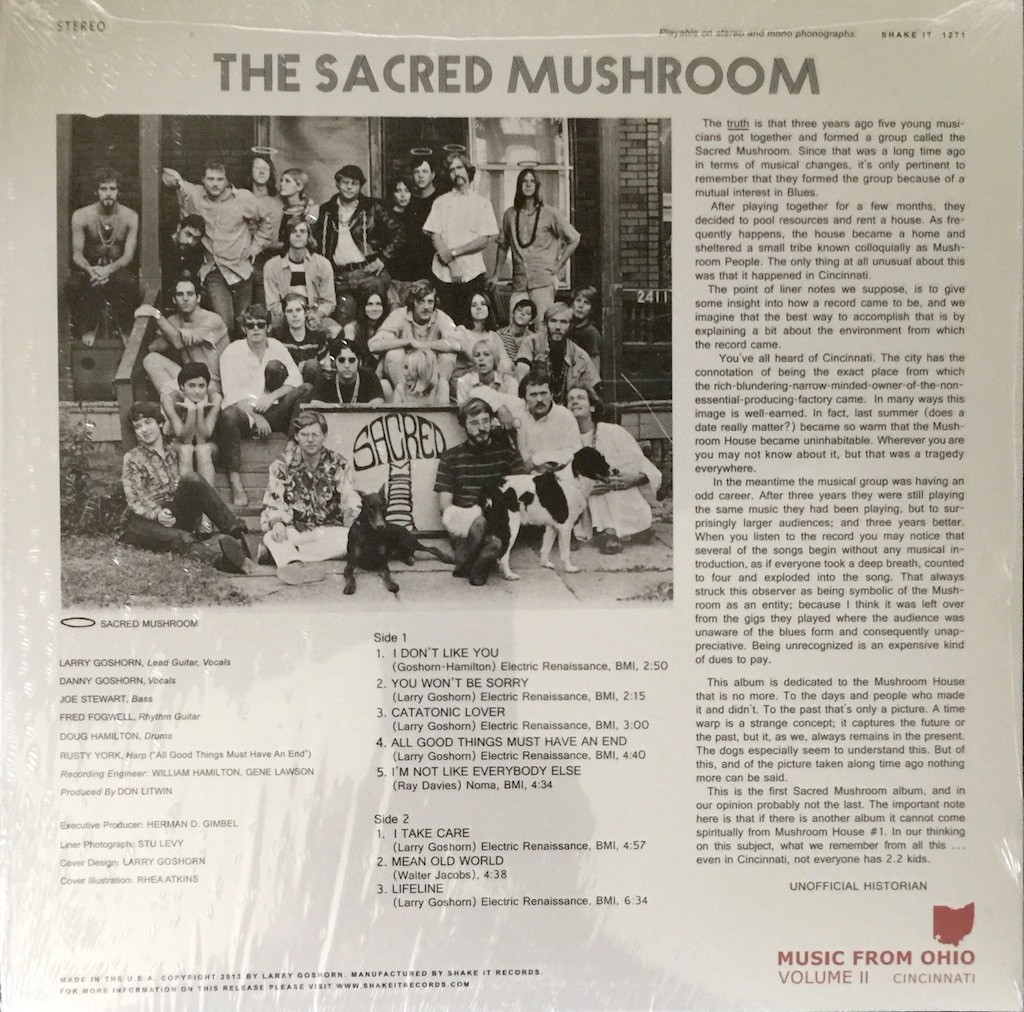 The Sacred Mushroom The Vinyl Press