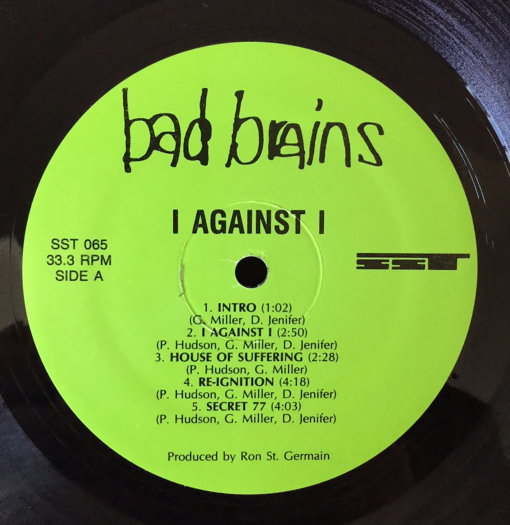 Bad Brains I Against I The Vinyl Press