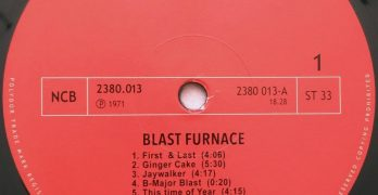 BLAST FURNACE- Self Titled
